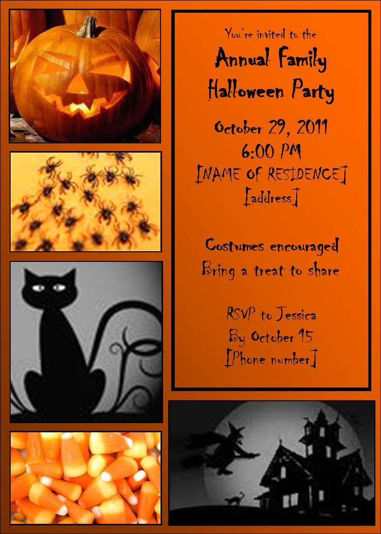 Utah county mom free customizable halloween invitation for Free halloween invitation templates