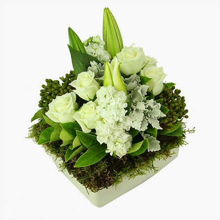White Sympathy Arrangement delivery in Australia