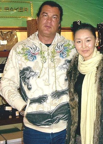 Steven Seagal with cool, cute, endearing, Wife Erdenetuya Batsukh