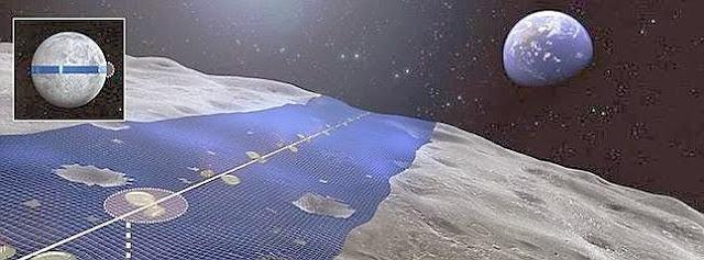 Construccion de Placas solares en la luna,compañia Shimizu