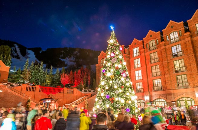aspen colorado is a great place to spend your christmas vacation you can spend your days on the slopes and your nights taking advantage