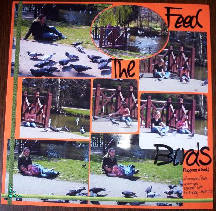 Whoopidooings   - Feed The Birds Scrapbook Page