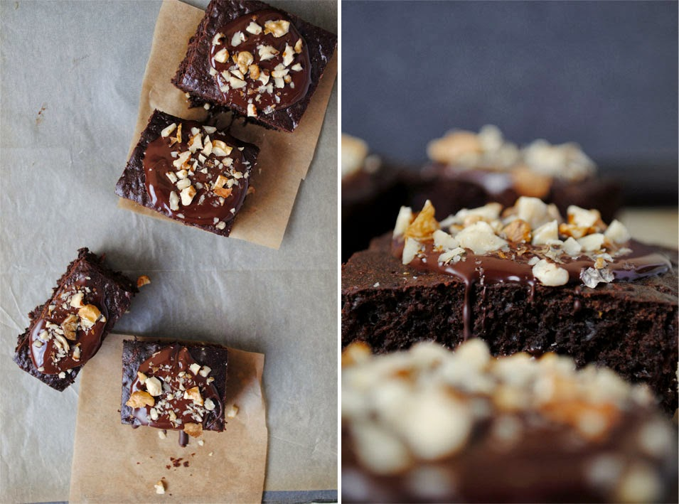 Brownie bez tłuszczu z cukinią