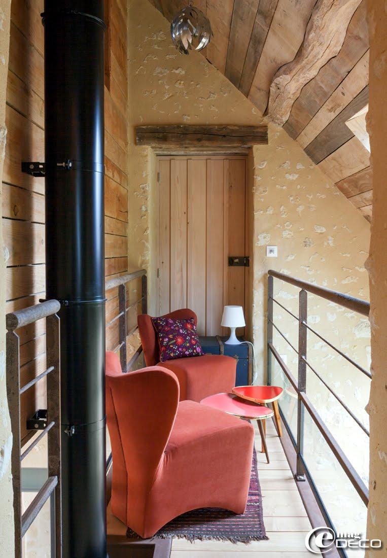 Passerelle dans la maison d'hôtes 'La Maison d'Hector', dans la Perche