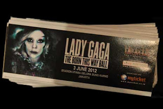 refund tiket lady gaga