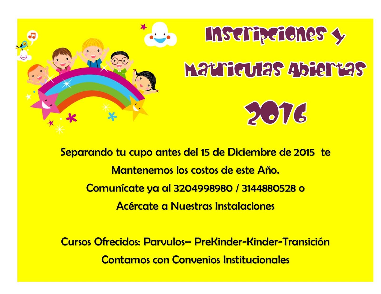 Colegio maravillas infantiles fusagasug for Jardin inscripcion 2016