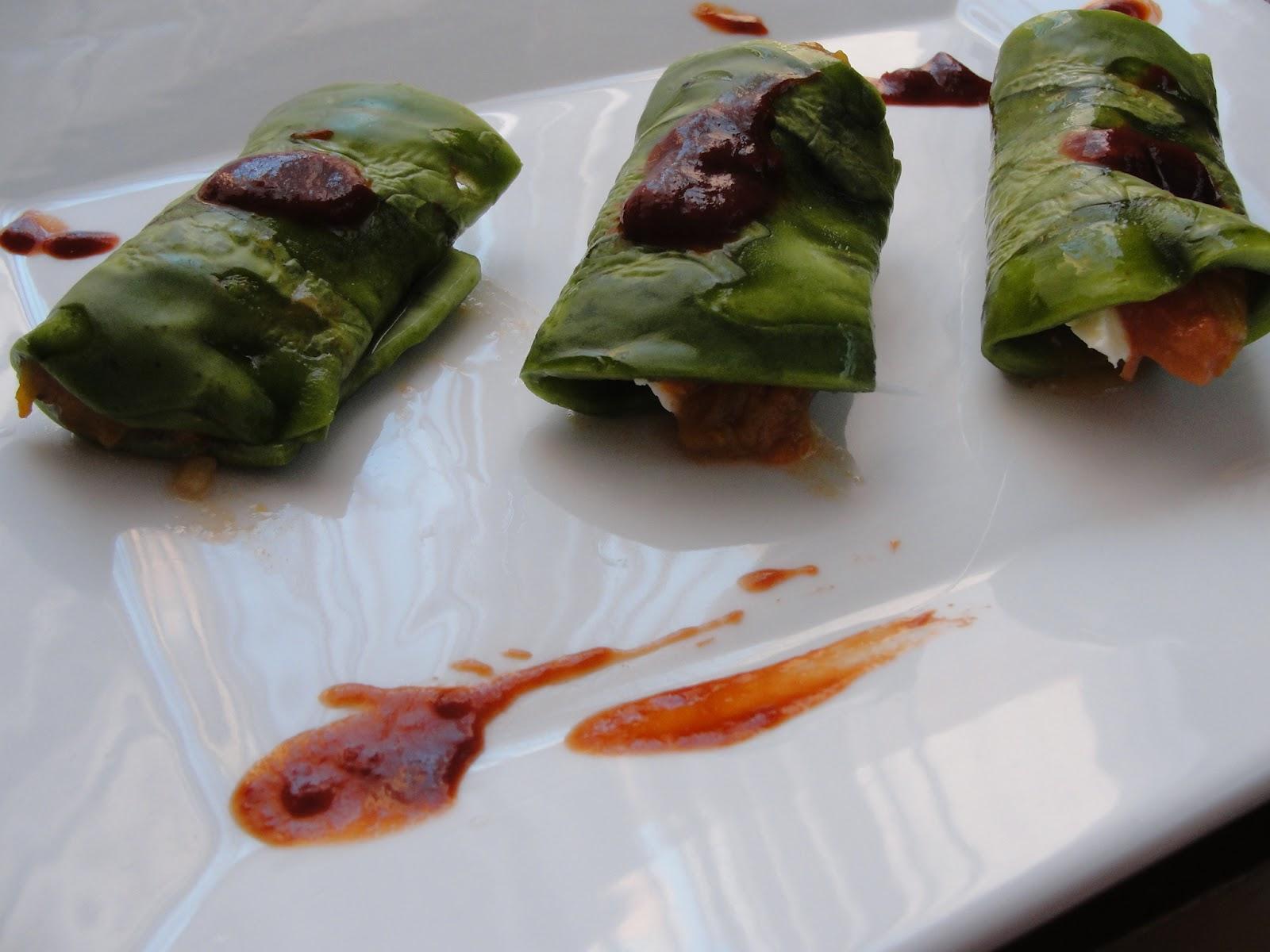 Disfruta cocinar tacos de nopal rellenos de flor de calabaza for Cocinar nopal
