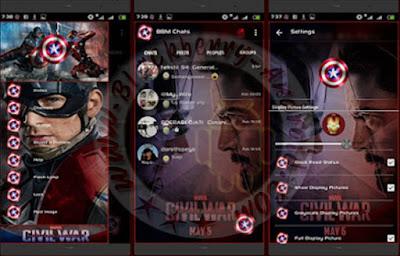 New BBM Mod Captain America Themes v2.10.0.35 Apk