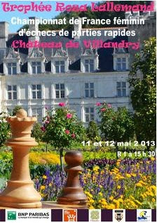 Échecs à Villandry : 12e championnat de France féminin