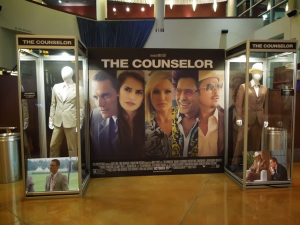 The Counselor film costume display