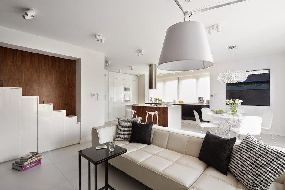 Casa d58 decoraci n interior minimalista polonia for 25m2 wohnung einrichten
