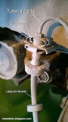 conexión latiguillo freno con tubería rígida vw golf II