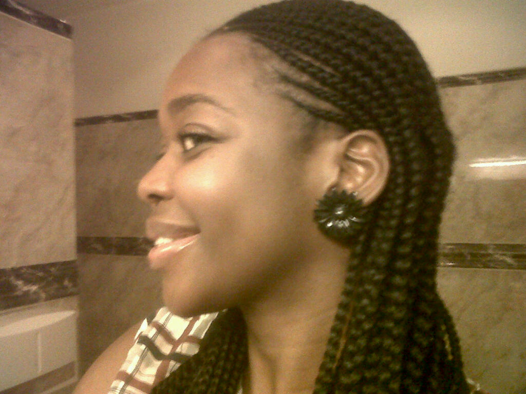 Actress Nse Ikpe-Etim with a variation of shuku below