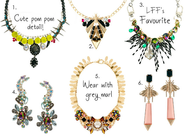 ASOS STATEMENT NECKLACE EARRINGS