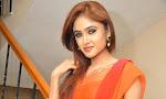 Sony Charista Glamorous in Saffron saree-thumbnail