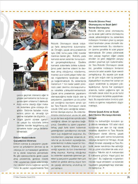 st robot yatirimlari dergisi tara robotik otomasyon