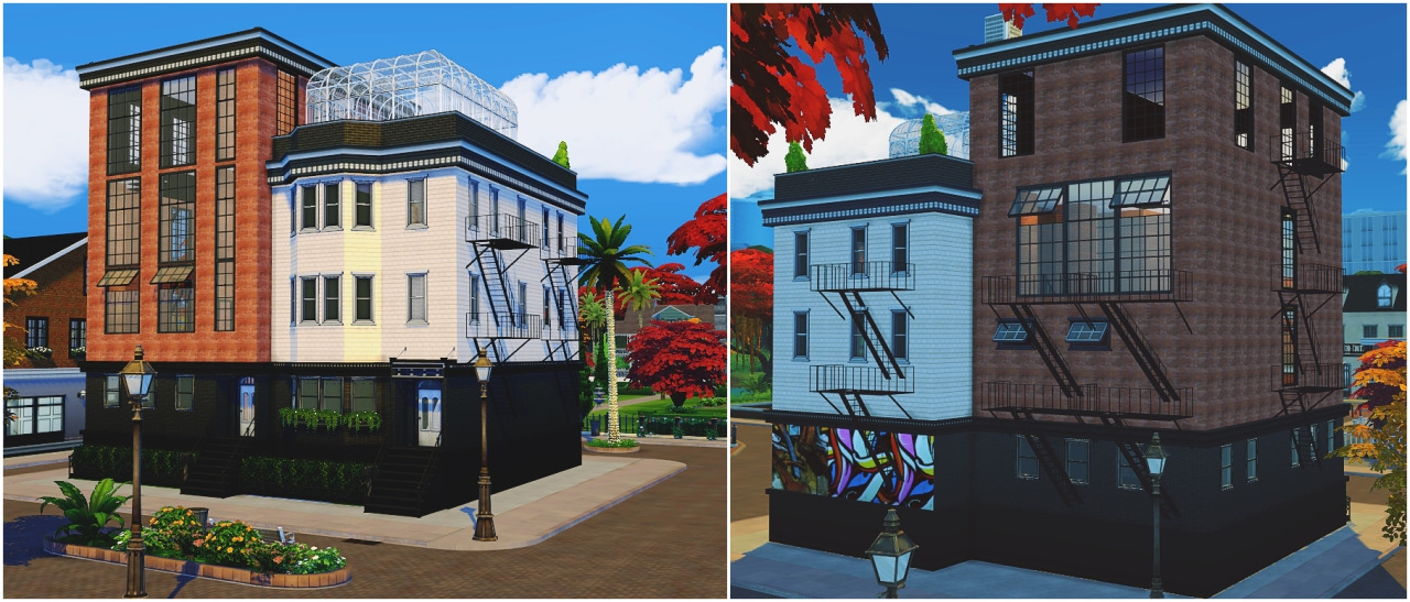 My Sims 4 Blog Townhouse Apartments By Maxsims