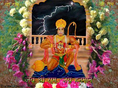 Lord Hanuman tears his chest