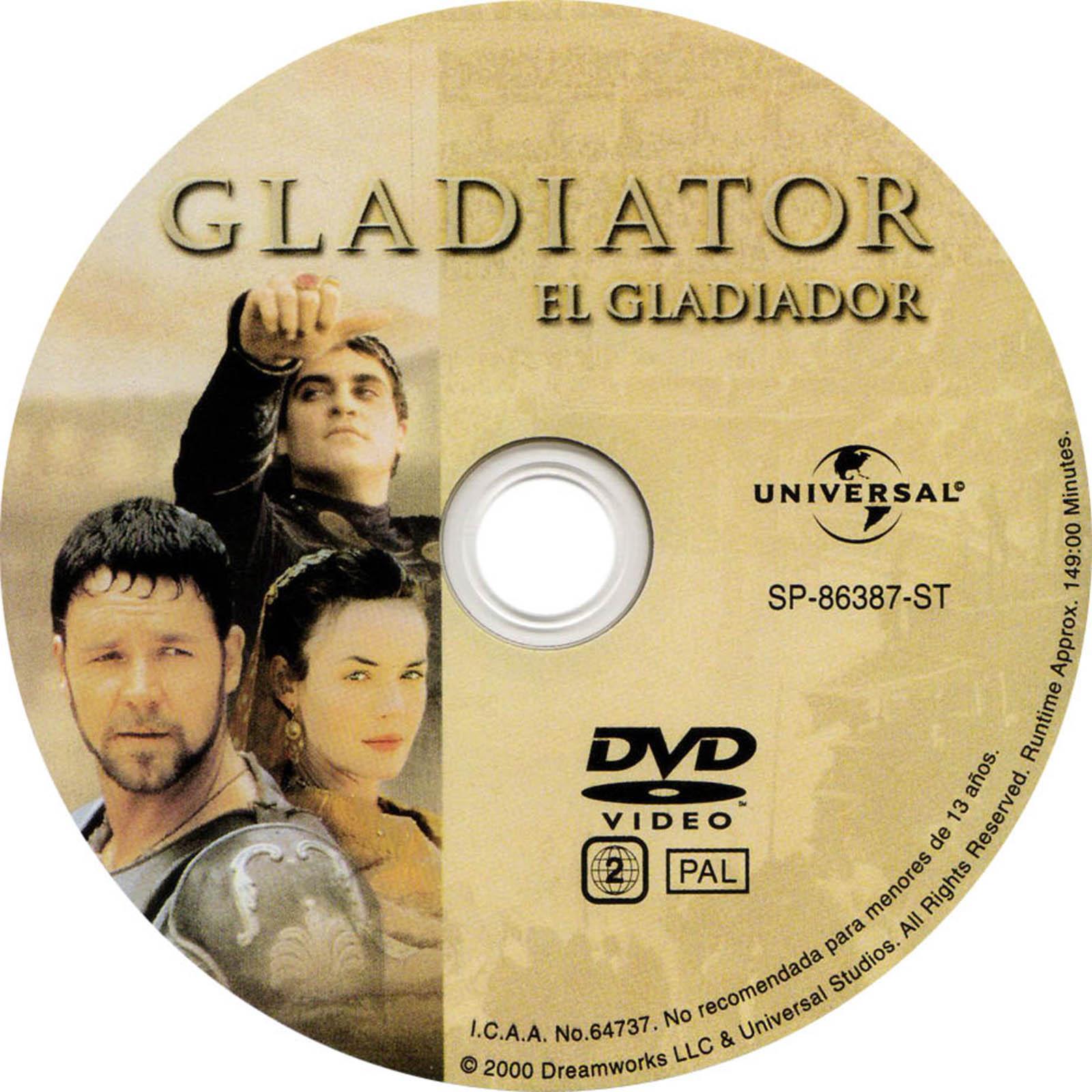 Gladiator Dvd Label Art