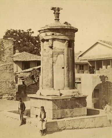Lysicrates Monument circa 1860.