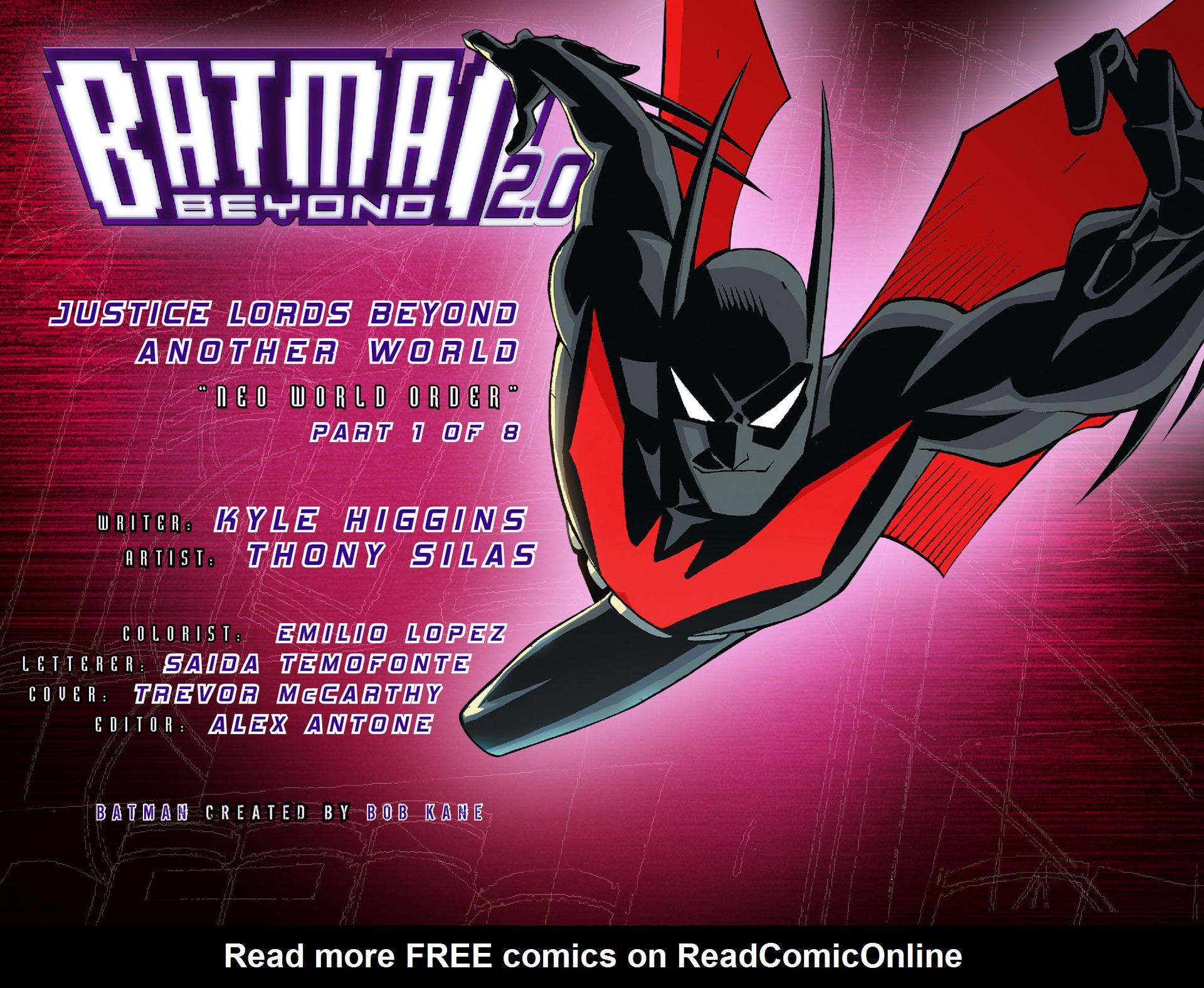 Batman Beyond 2.0 #17 #24 - English 2