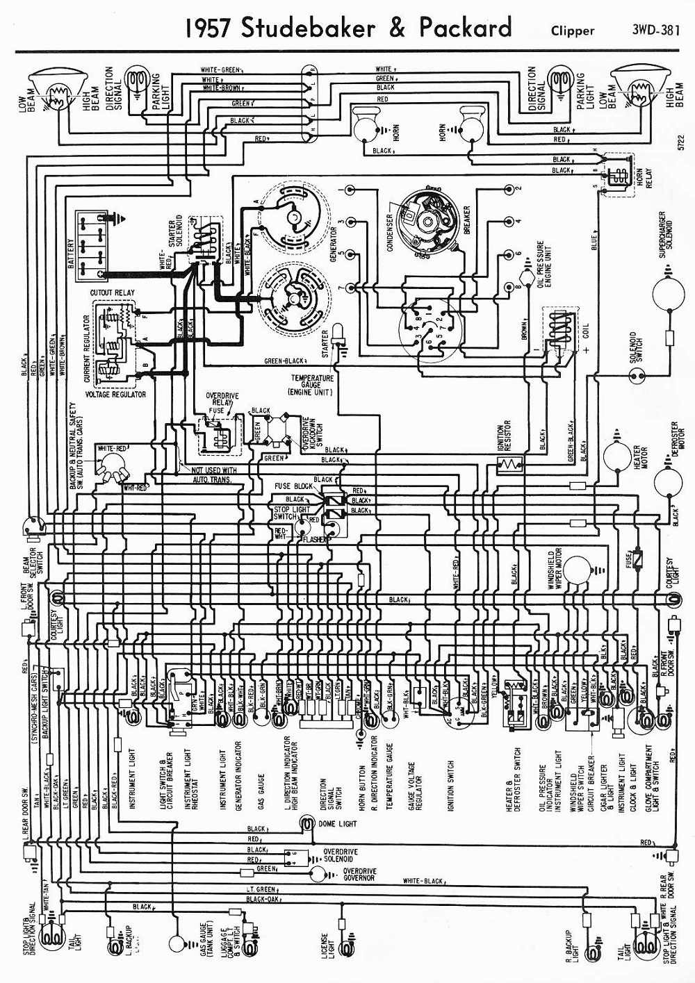 51 Studebaker Wiring Diagram Library Auto 1952 Packard Diagrams 911 1957 And Clipper 1959 Pickup
