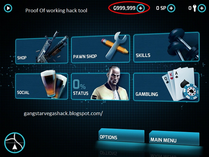 Gangstar Vegas Hack Cheat Tool
