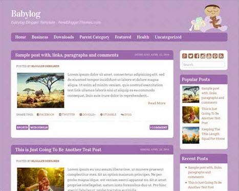 Babylog Free Blogger Template