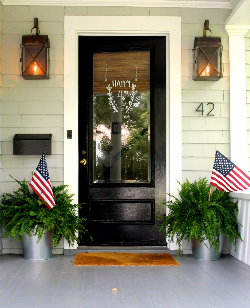 Crushing on painted black doors jennifer rizzo for Front entrance doors with glass
