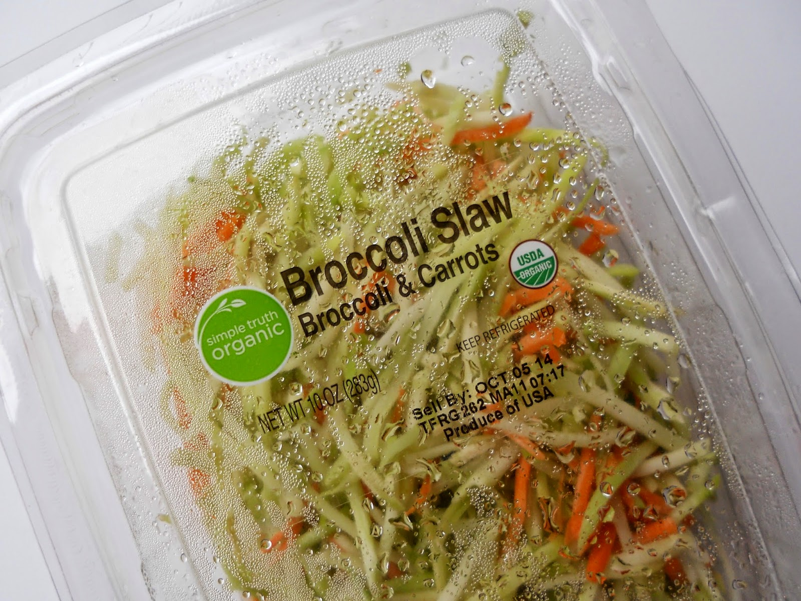 how to cut broccoli slaw