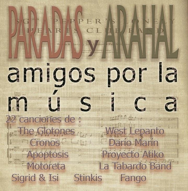 Portada del disco Paradas Arahal amigos por la música
