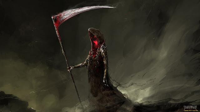 Death Scythe Grim Reaper Shadow Dark hd wallpaper desktop pc wallpaper a81