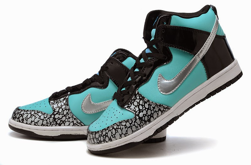 Nike Dunk High Top Womens City Girl Black White Shoes Hot Sale
