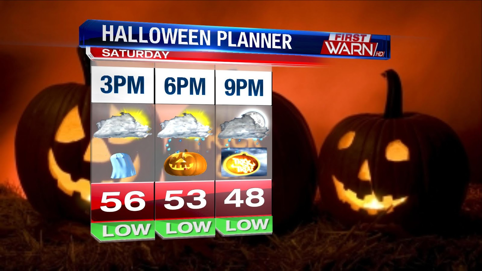 first warn weather team: an early look at halloween