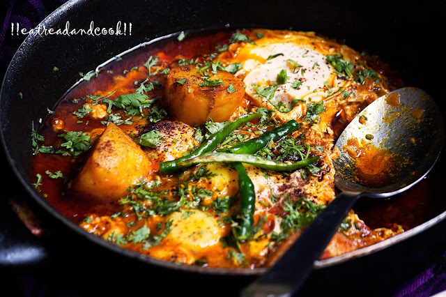 simple and easy Bengali Poached Egg Curry