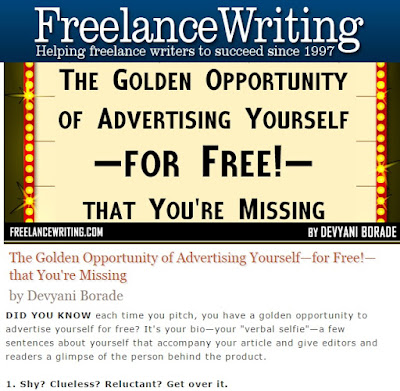 Verbolatry - Devyani Borade - The golden opportunity of advertising yourself for free that you're missing - Freelance Writing