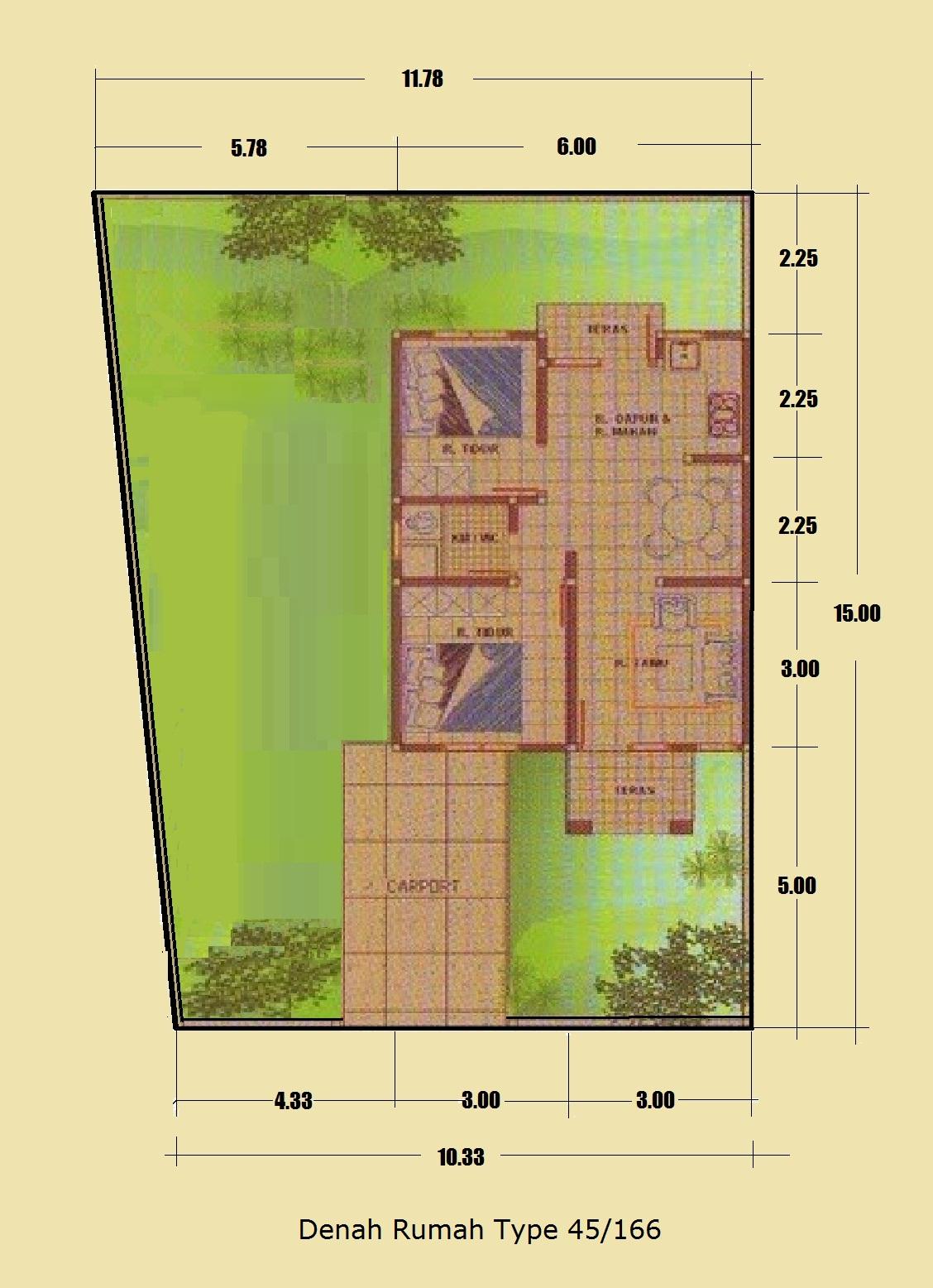 rumah minimalis type 45 166 halaman luas rumah minimalis