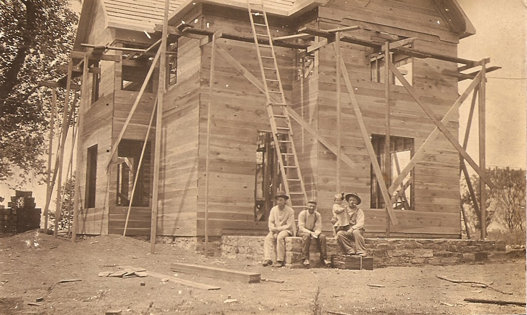 Three Men And A Helper Around 1910 They Have Been Framing