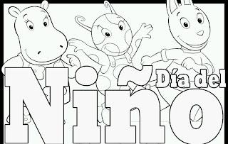 Dibujos Dia del Niño para Pintar, parte 2