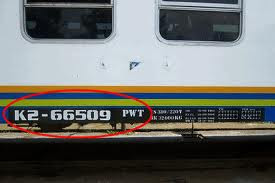 Nomor Gerbong Kereta
