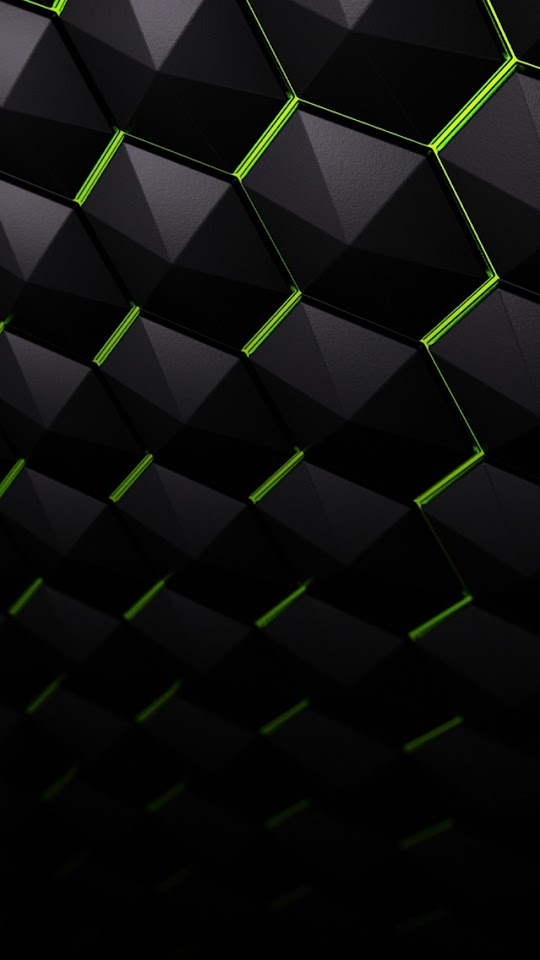 Dark 3D Hexagons   Galaxy Note HD Wallpaper