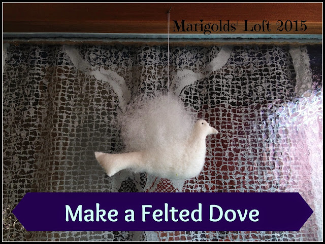 Make a felted dove