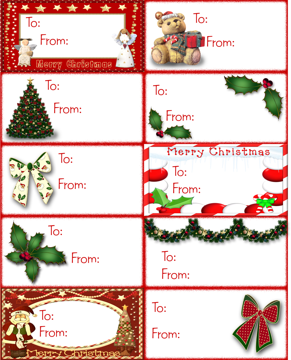 Striking image with regard to christmas gift tags printable