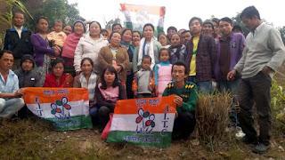 40 families joins tmc in lower lanku busty