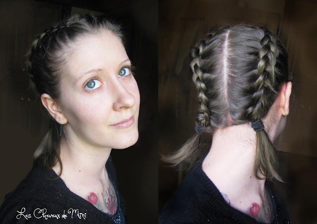 La double dutch braid coupe de cheveux mi longs coupe de cheveux mi long - Deux tresse africaine ...