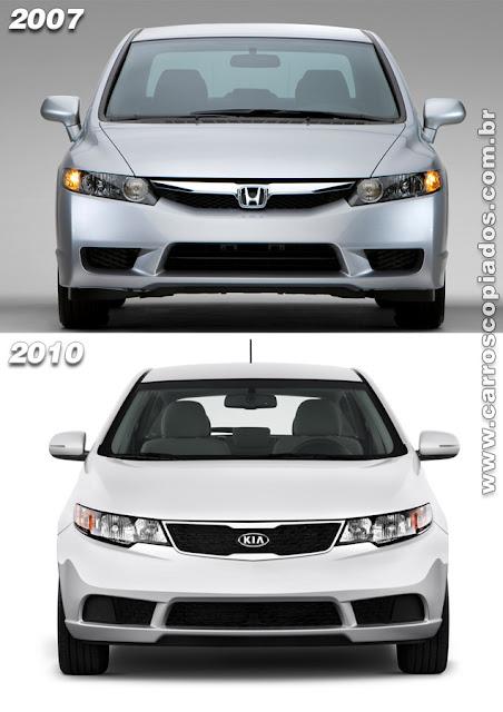 Kia Forte e Honda Civic Coupe