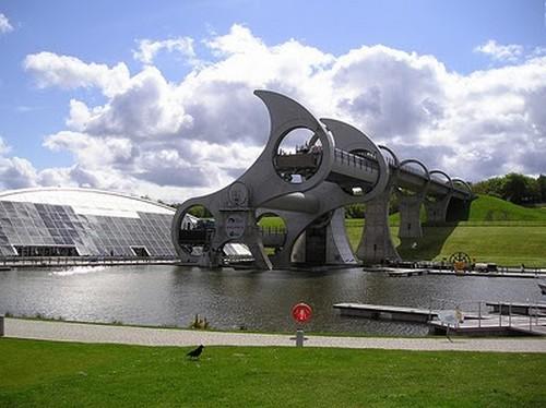Puentes más curiosos del mundo - Falkirk Wheel, Escocia