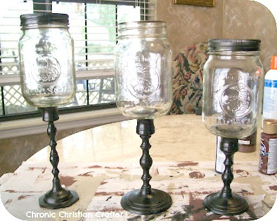 apothecary jars mason jars and candle holders