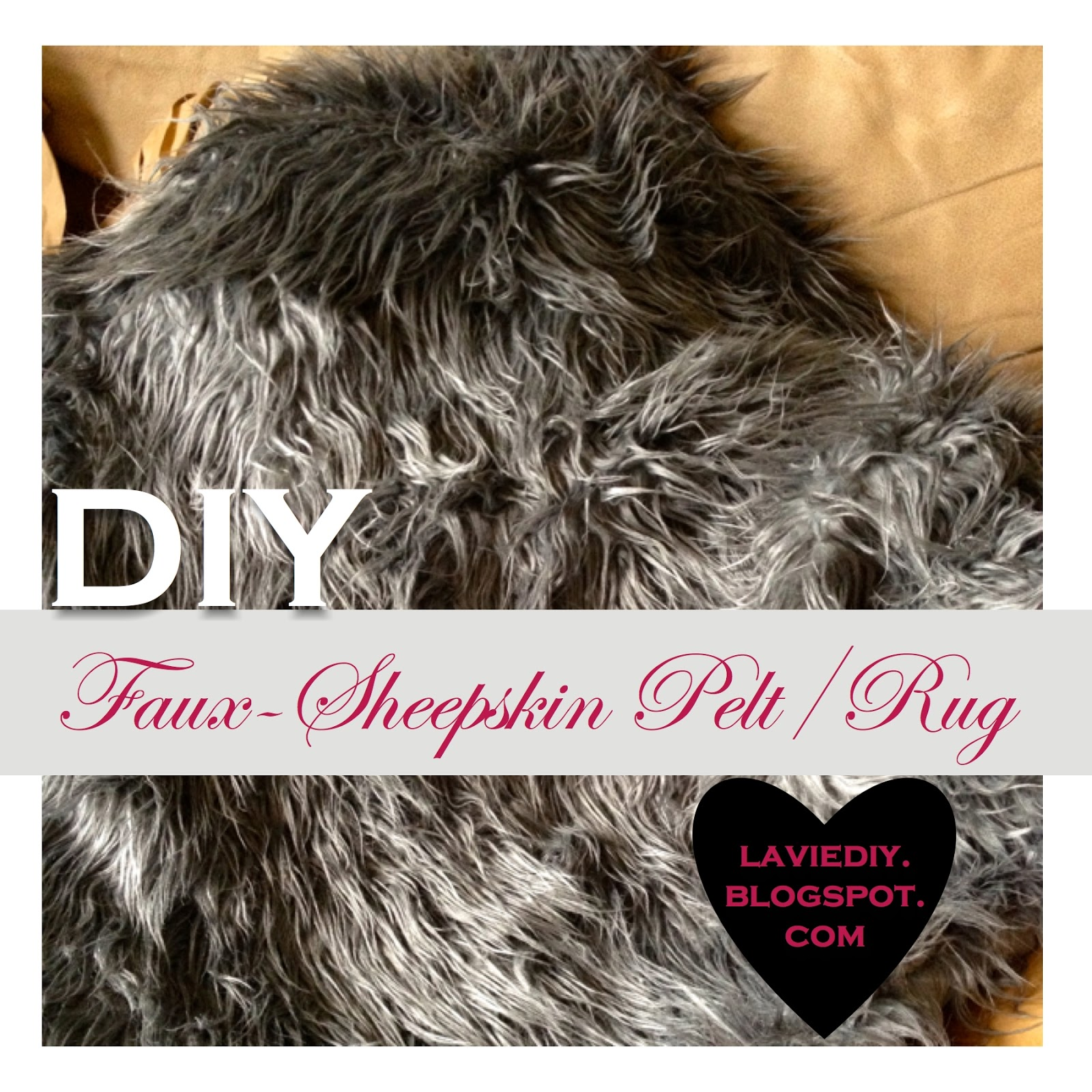 diy faux sheepskin rug or pelt