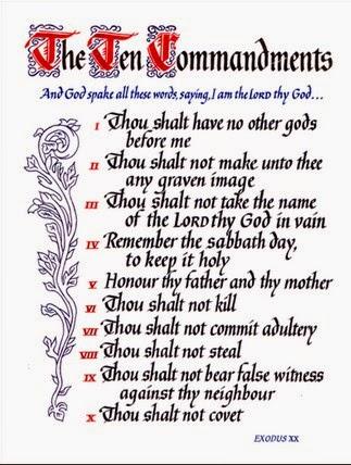10 hukum taurat perintah tuhan di alkitab bible injil menurut protestan katolik nasrani yahudi